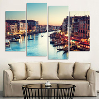 4 Stücke Venedig Landschaft Ölgemälde Leinwand Wandkunst Bild Wandbilder Für Wohnzimmer Leinwanddruck Moderne Cuadros Decoracion