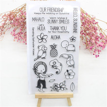 Cute Transparent Clear Silicone Stamps for DIY Scrapbooking Card Making diy photo album Decorative  Thank you  Animal