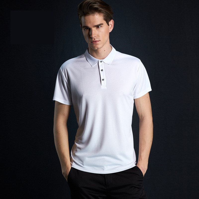 Sports Quick-drying Half Sleeve   polo   shirt men Solid Color Short Sleeve mens   polos   Men's Fashion Lapel shirt Sweatshirt WGTX171