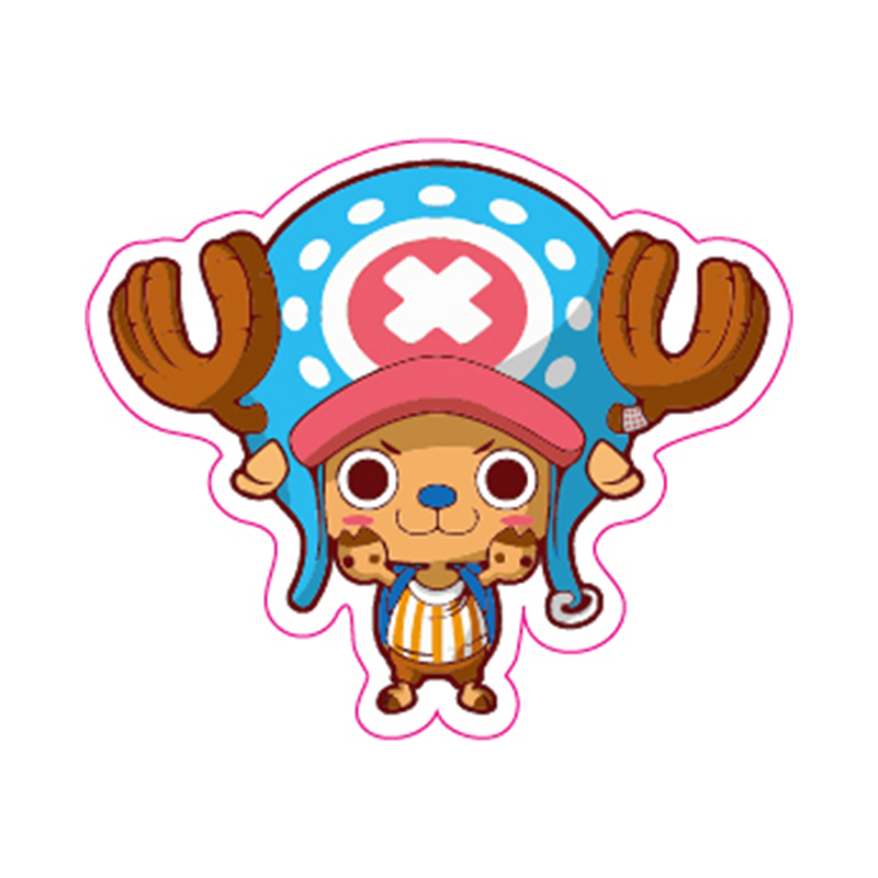 Tony Tony Chopper One Piece Fixed Gear Bike/Luggage/Guitar/Motor/Car Waterproof Stickers Reusable ONEPIECE Refrigerator Sticker