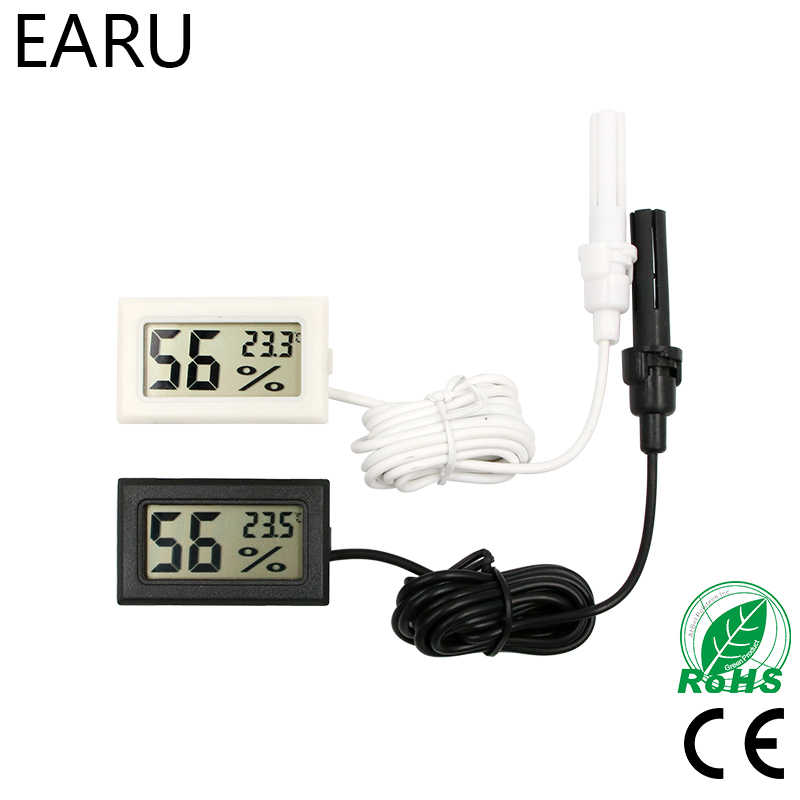 Mini LCD Digital Thermometer Hygrometer Thermostat Indoor Convenient Temperature Sensor Humidity Meter Gauge Instruments Probe