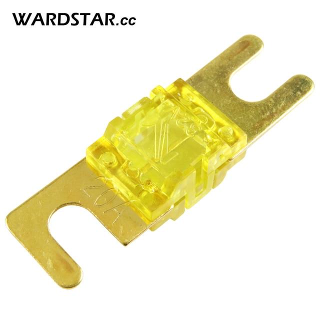 5 pcs/lot boîtier en plastique plaqué or feuille 20A 32 V Audio AFS Mini ANL fusible Auto Stud voiture fusibles