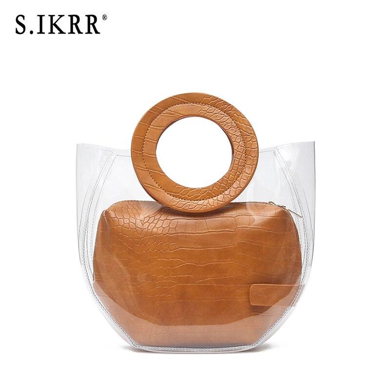 Летняя прозрачная сумка S. IKRR, прозрачная сумка для пляжа
