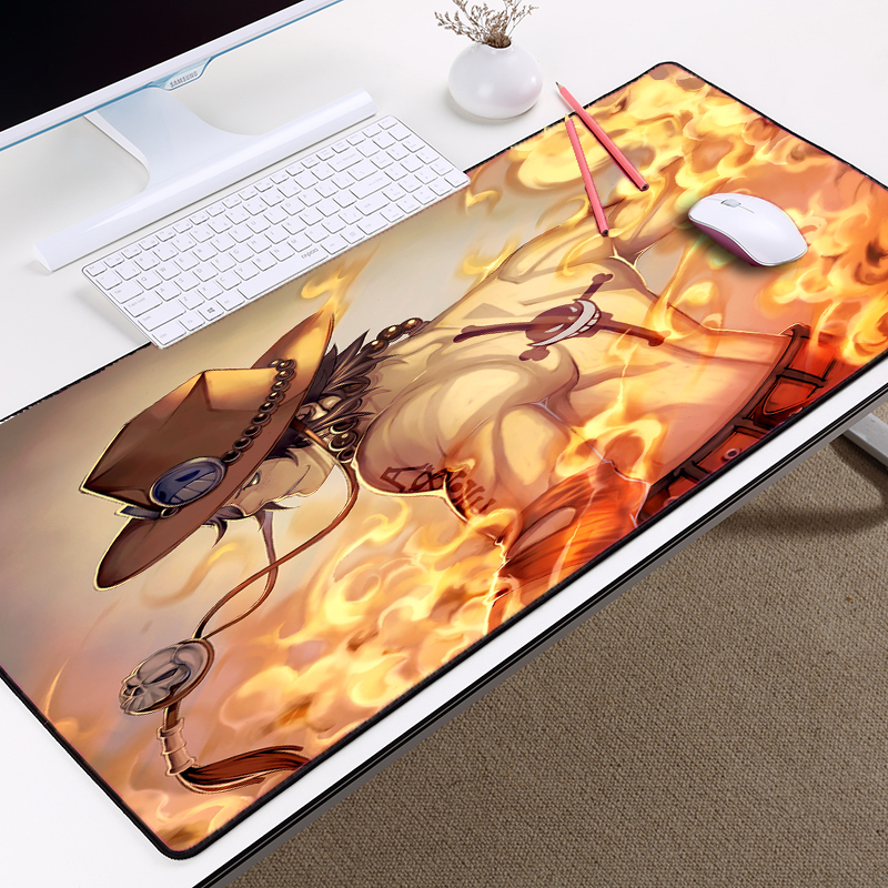 Mairuige hot movie anime cartoon Pattern Jump Comic <font><b>One</b></font> <font><b>Piece</b></font> Ace Super Big Size Table Mat pc gaming gamer play <font><b>mouse</b></font> <font><b>pad</b></font> mat image