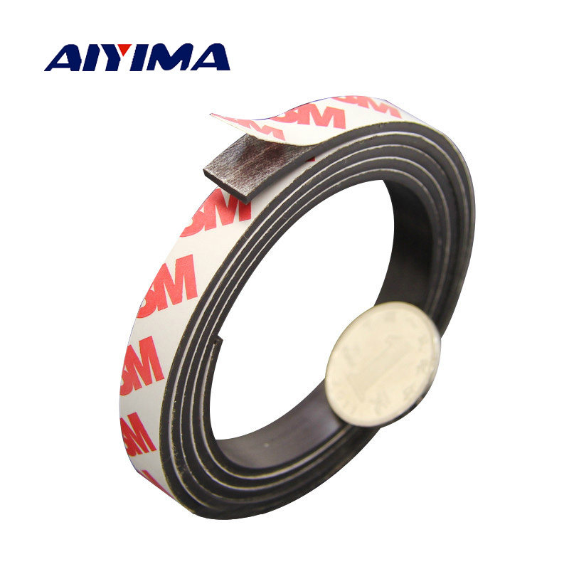 Aiyima 5M 1M Stripe magnets Rubber soft magnet 10*2MM strong magnetic tape for diy Office family school цена и фото