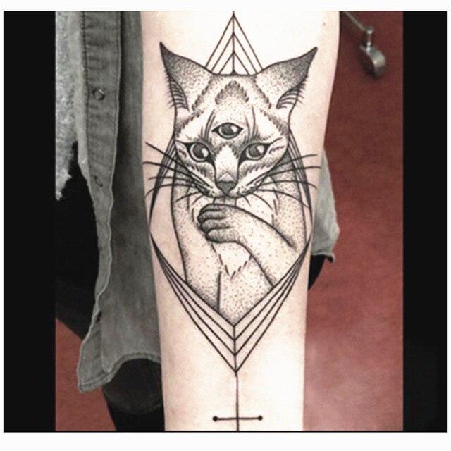 Cat Tattoo Sticker Temporary Tattoo For Body Paint Waterproof Tattoo Transferable Tattoo Sleeve