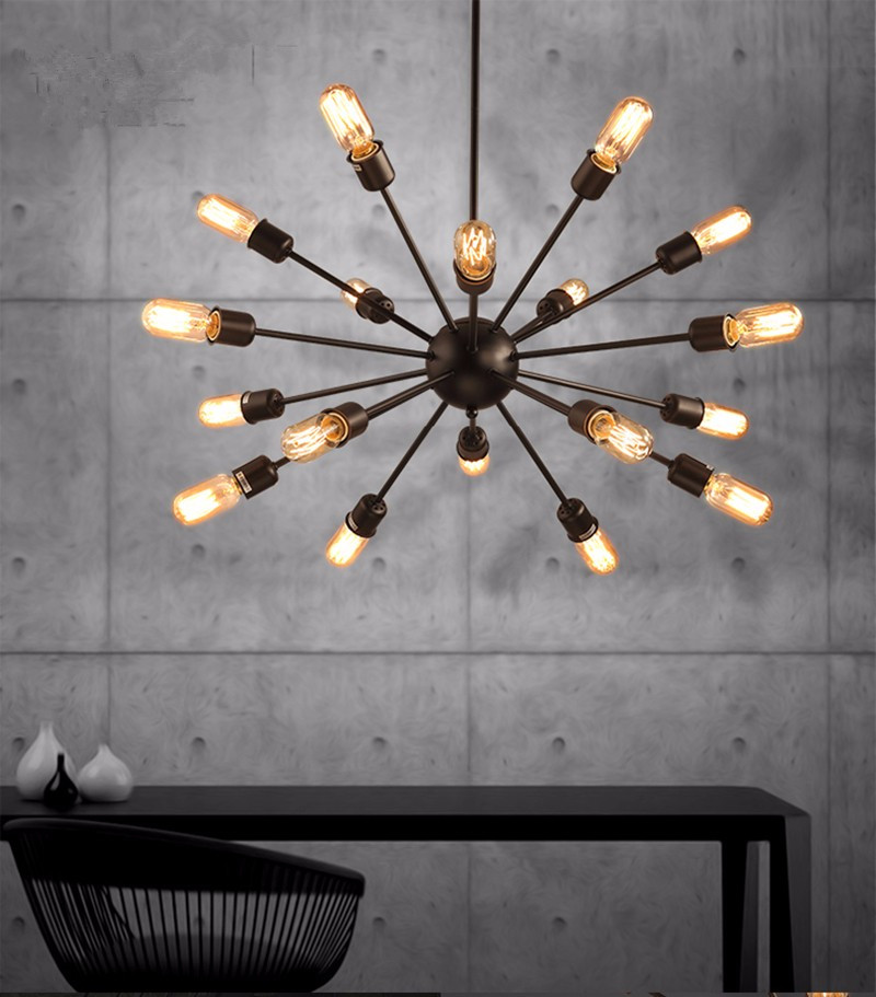 Mordern Nordic Retro pendant light Edison Bulb Lights fixtures lustre industriel iron Loft Antique DIY E27 Spider Ceiling LampMordern Nordic Retro pendant light Edison Bulb Lights fixtures lustre industriel iron Loft Antique DIY E27 Spider Ceiling Lamp