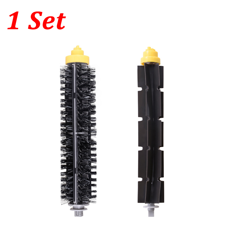 Bristle Brush + Flexible Beater Brush Replacement Kit For iRobot Roomba 600 700 Series 650 630 660 770 780 790 Vacuum Cleaner 14pcs free post new side brush filter 3 armed kit for irobot roomba vacuum 500 series clean tool flexible bristle beater brush