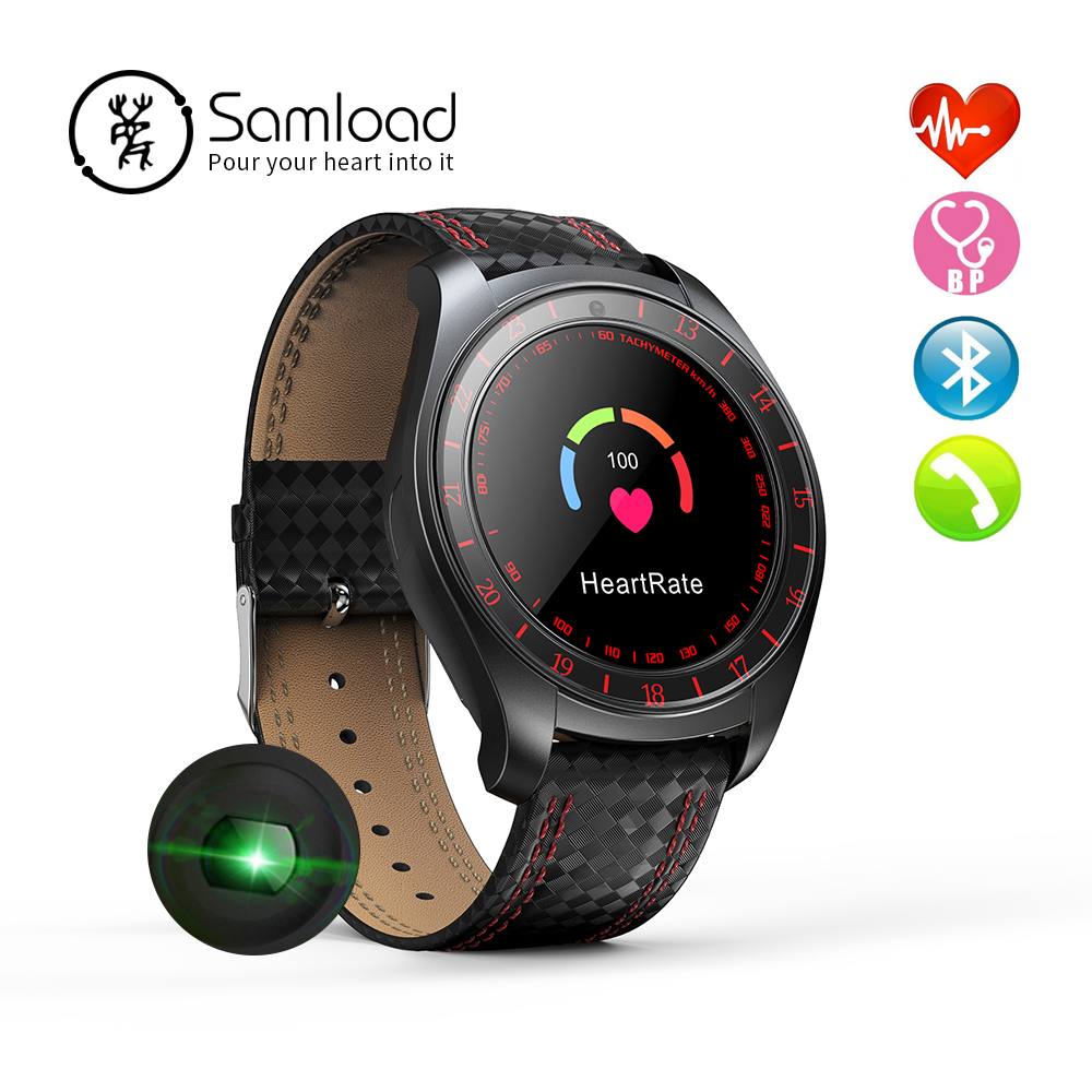 Samload Business Smart Watch Electronic Bluetooth Wristband Real Time Heart Rate Monitoring Sleep Tracker For iPhone 8 X Android