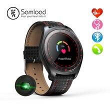 Samload Negócio Relógio Inteligente Pulseira Bluetooth Frequência Cardíaca Em Tempo Real Tracker Monitoramento Sono Eletrônico Para iPhone 8 X Android