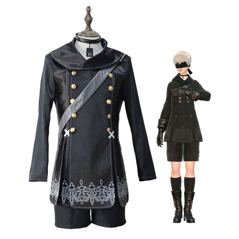 Male Costume for Nier Automata Yorgha No. 9 S Type NieR Automata 9S Cosplay Costumes Uniform