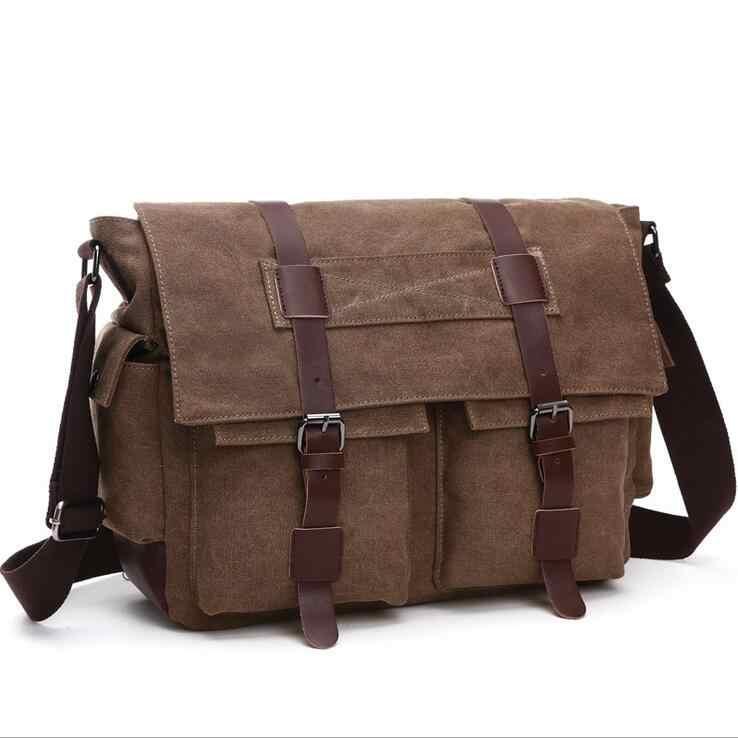 a4827e623d9d ... Laptop Men's Crossbody Bags Student Canvas Shoulder bag Ipad Large  space Messenger ...