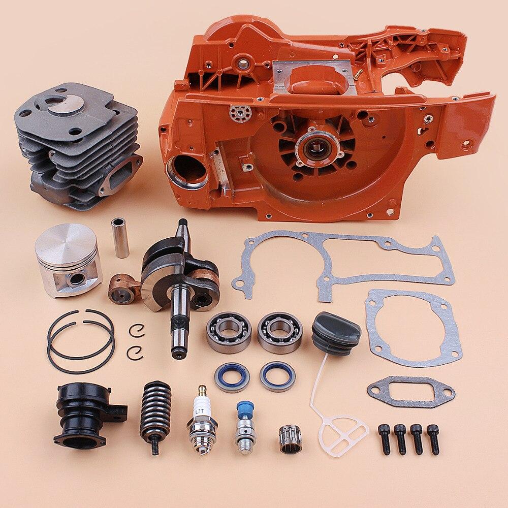Tools : Engine Motor Crankcase Cylinder Piston Crankshaft Bearing Rebuild Kit fit HUSQVARNA 362 365 372 371 Gas Chainsaw Spares - 50MM