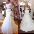 2016 Vintage Mermaid Wedding Dresses Plus Size Tulle Sweetheart Sleeveless Bridal Gowns Robe De Mariage abiti da sposa 2017