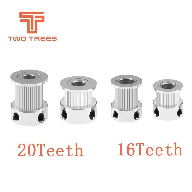 5 Teile/los 3d Drucker Gt2 20 Zähne 16 Zähne 20 Zähne Bohrung 5mm/8mm Timing Alumium Pulley Fit Für Gt2-6mm Offenen Zahnriemen Attraktives Aussehen 3d-drucker Und 3d-scanner