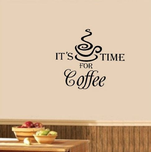 time for coffee cafe coffee shop wall sticker diy pegatinas de pared ...