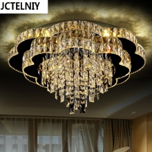 Crystal led ceiling light living room lights luxurious romantic circle bedroom lights child lighting