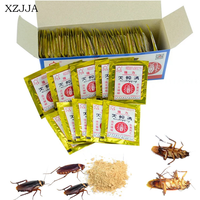 XZJJA 20 Packs Effective Killing Cockroach Bait Powder Cockroach Repeller Insect Roach Killer Anti Pest Reject Trap Pest Control