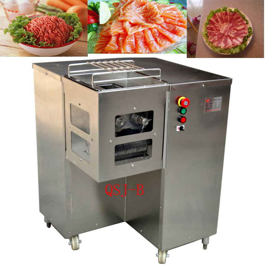 800KG/H Stainless Steel High Quality Multifunction Meat Cutter QSJ-B Meat Slicer Meat Dicing Commercial Electric Cutting Machine