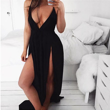 Sleeveless Backless High Split Dress