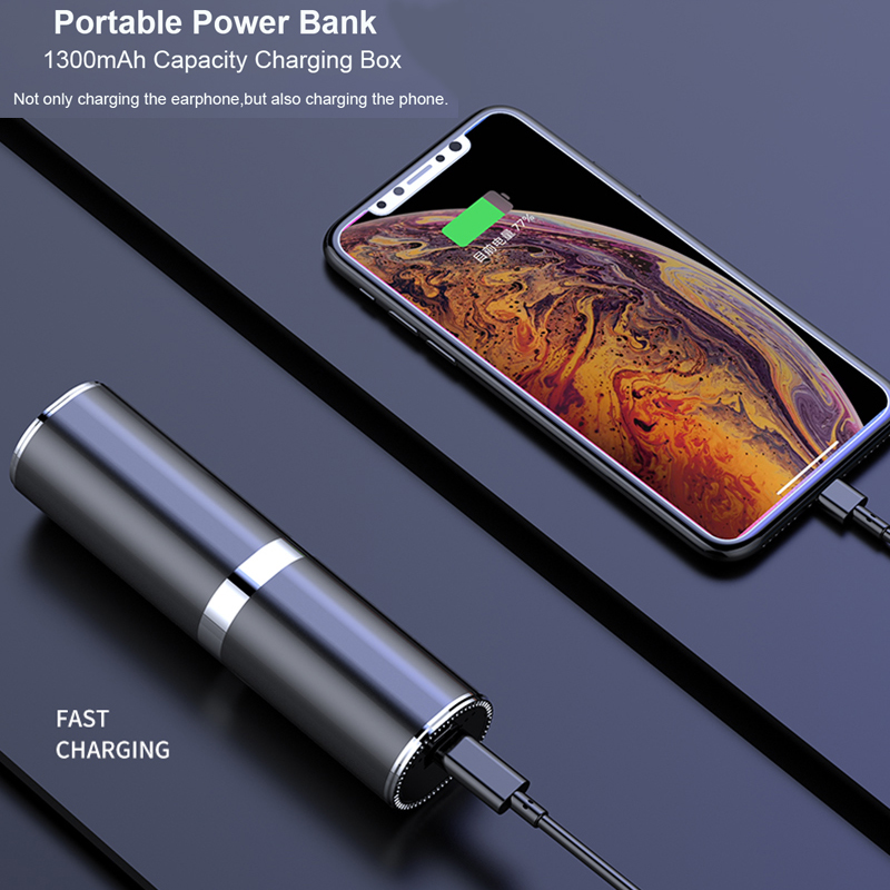 MINI Tws V5 0 Bluetooth Earphone Wireless Headphones With 1300mah Charging Box Wireless Earbuds Hifi Bass Headset Power Bank in Bluetooth Earphones Headphones from Consumer Electronics
