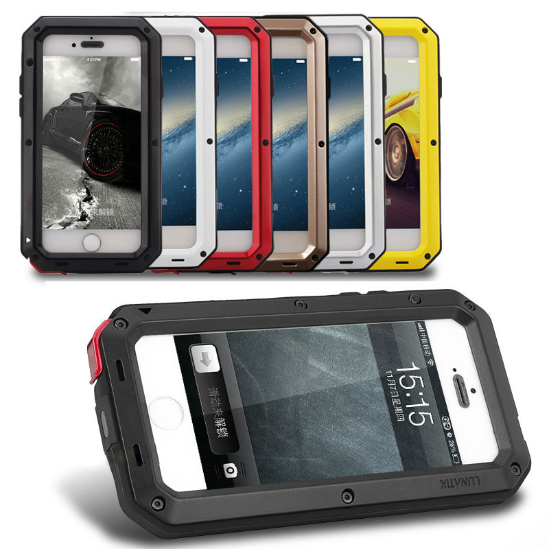 buy popular 277b2 8aa72 US $9.83 10% OFF REFUNNEY Heavy Duty Doom Metal Armor Case for iPhone 5 5s  se Shockproof Cover Coque Capinha for iPhone5 5 s 5se-in Fitted Cases from  ...