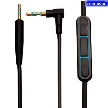 1,4 M Audio 3,5 a 2,5mm Cable de reemplazo para Bose Quiet Comfort QC25 auriculares MIC con controlador para Iphone andrews negro