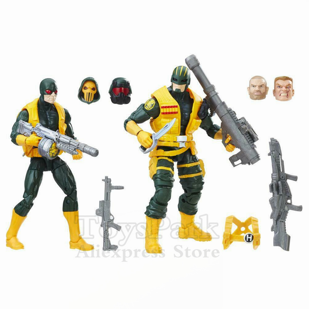 Marvel Legends Series 6 Hydra Soldier SOLDAT & HYDRA 2 Pack Action Figure From 2017 TRU Exclusive Collectible OriginalMarvel Legends Series 6 Hydra Soldier SOLDAT & HYDRA 2 Pack Action Figure From 2017 TRU Exclusive Collectible Original