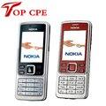 ГОРЯЧАЯ дешевый телефон разблокирована оригинальный Nokia 6300 classic камера русском языке клавиатура восстановленных мобильных телефонов