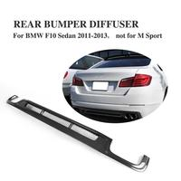 Carbon Fiber Rear Bumper Diffuser Lip for BMW 5 Series F10 F18 standard Bumper 2011 2013