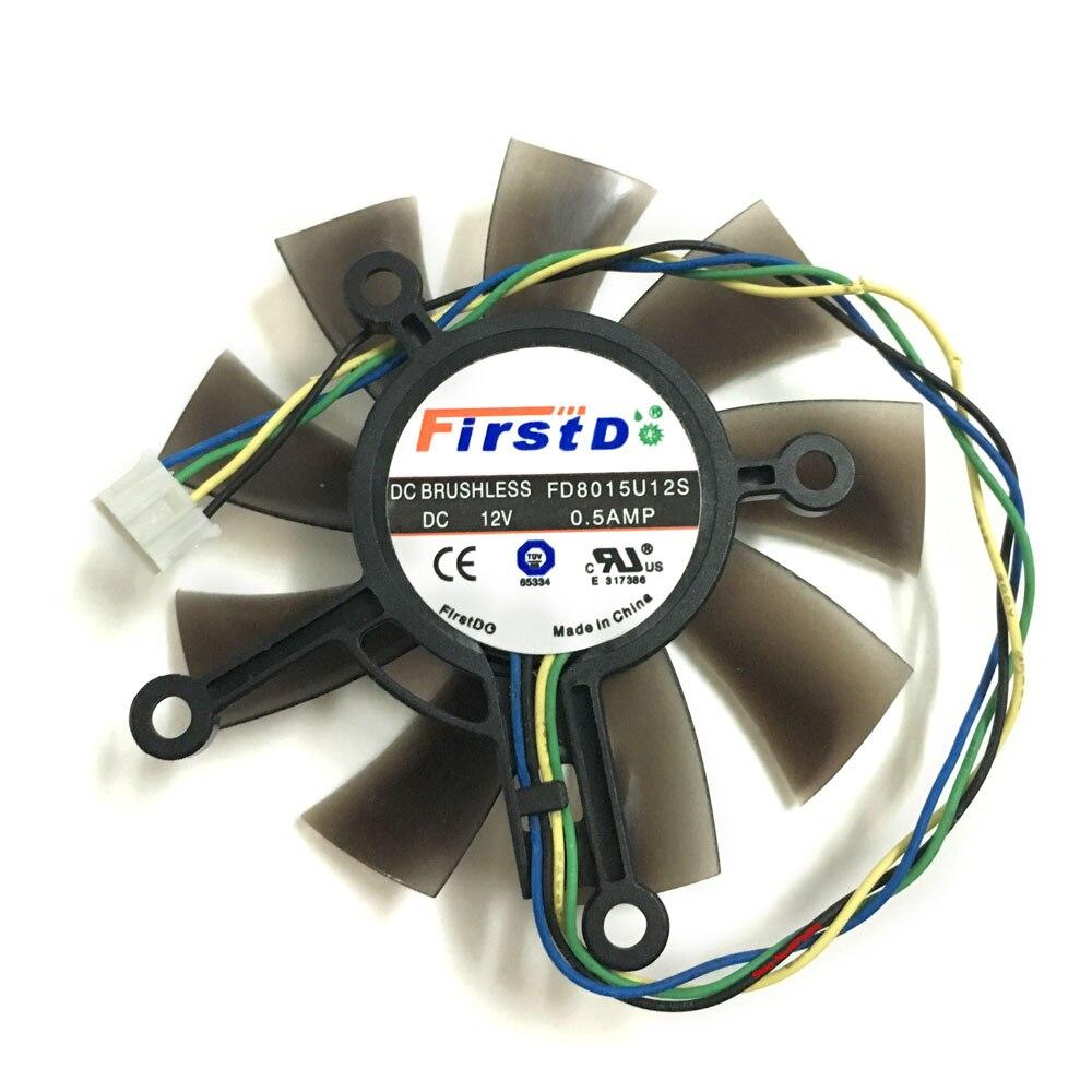 75mm FD8015U12S 0.5A GTX1050ti GTX750 GTX750ti GPU vídeo VGA refrigerador ventilador para ASUS GTX 1050ti/750/750ti tarjeta gráfica