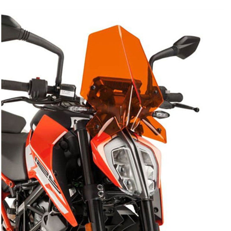 Motorcycle Windscreen Windshield Wind Deflector fit for KTM Duke 790 DUKE790 2018 Double Bubble