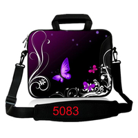 10 12 13 14 15 17 4 Butterfly Notebook Laptop Shoulder Sleeve Handle Bag Carrying PC