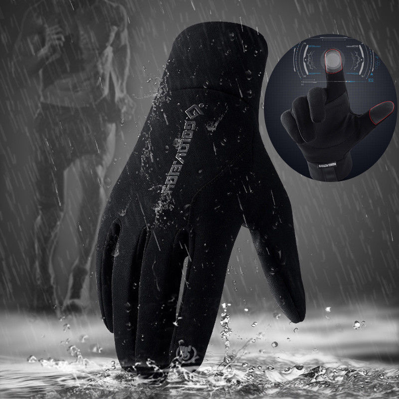 1 Pair Gloves Waterproof Windproof Anti-slip Warm PU For Outdoor Sport Cycling Winter WML99