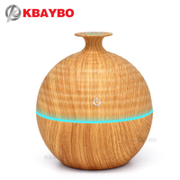 KBAYBO 130ml USB Evaporative Humidifier Aroma Diffusers Essential Oil Diffuser Aromatherapy Mist Maker LED Light Wood