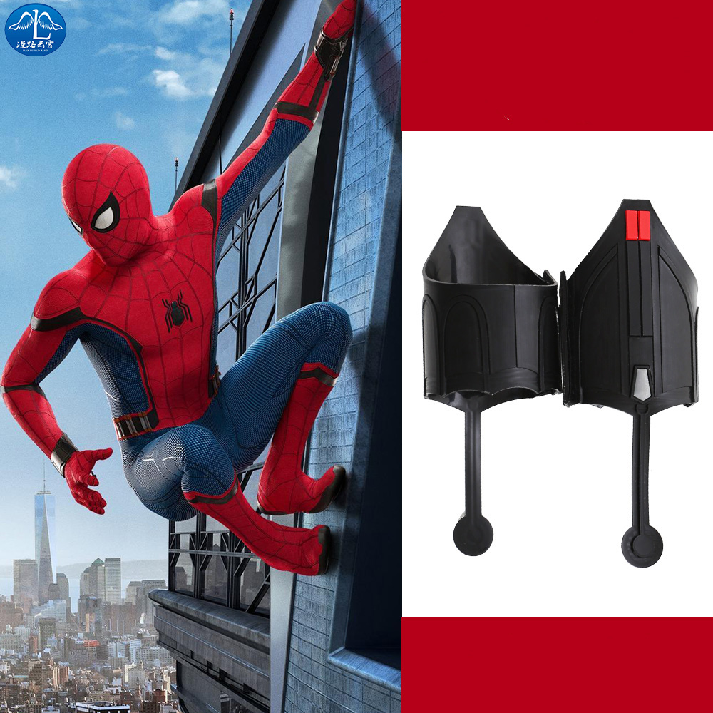 Spider Man Web Shooter Spiderman Homecoming Cosplay Costume Accessories Halloween Adult Men Spiderman Carnival Props One Size