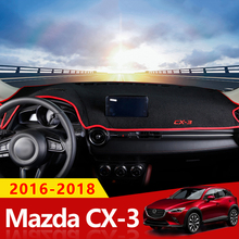 For MAZDA CX-3 CX3 CX 3 2015 2016 2017 2018 Car Dashboard Cover Mat Auto Sun Shade Cushion Pad Interior Protector Carpet Trim цены онлайн