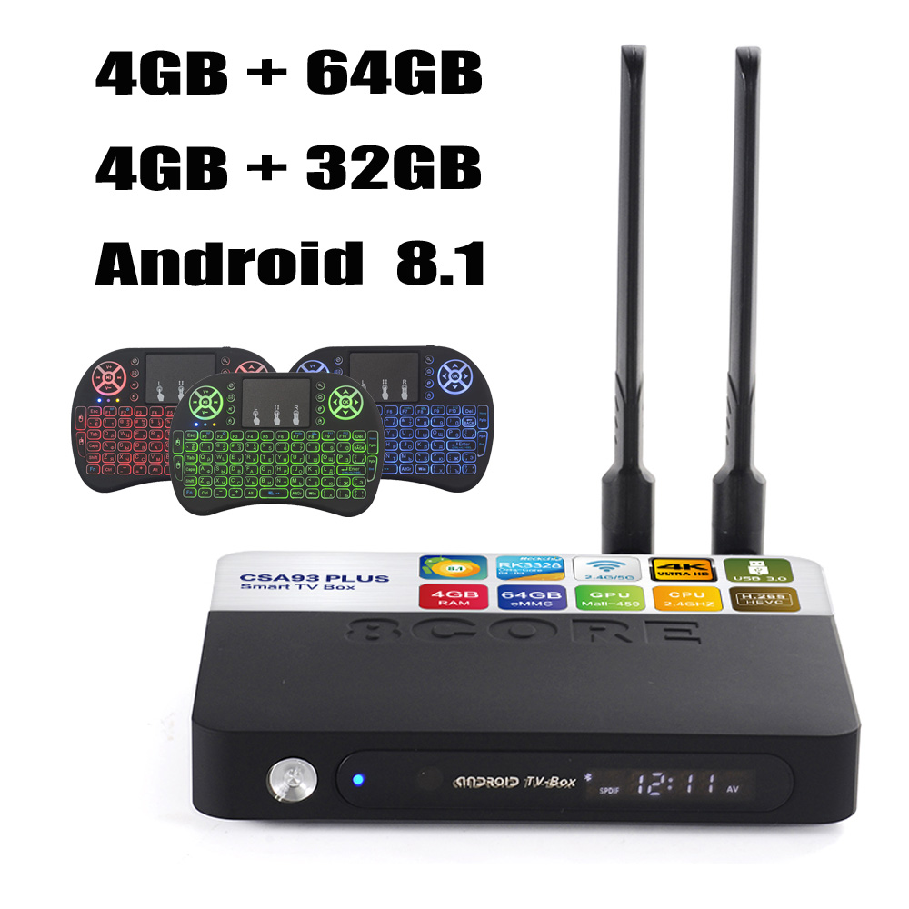 CSA93 Plus 4GB 64GB Android 8 1 TV Box RK3328 Quad Core 4K Smart Tv 2