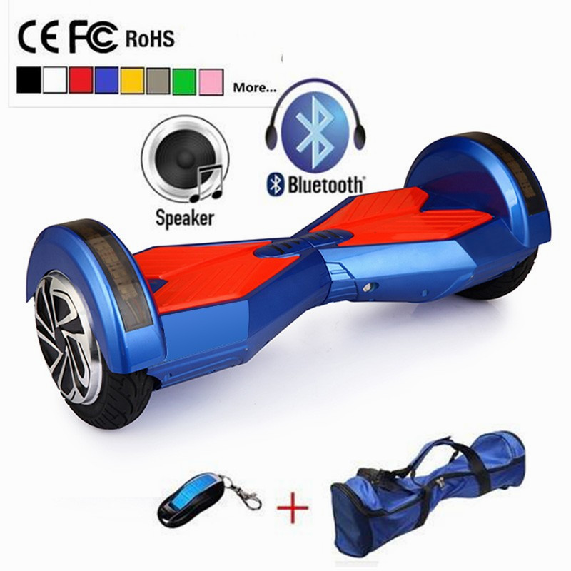 2017 new 8 inch hoverboard electric scooter bluetooth speaker led light 2 wheel self balancing. Black Bedroom Furniture Sets. Home Design Ideas