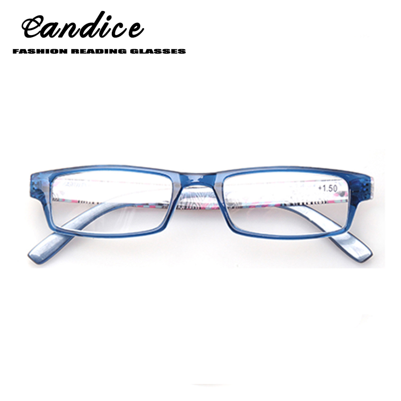 Henotin Mode dicetak Kacamata Baca untuk wanita Musim Semi Engsel bingkai persegi panjang pembaca kacamata nyaman 0.5