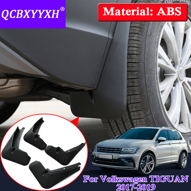 Car Styling Mud Flaps Splash Guard Mudguard Mudflaps Fenders Perfector For Volkswagen TIGUAN 2017 2019 Auto