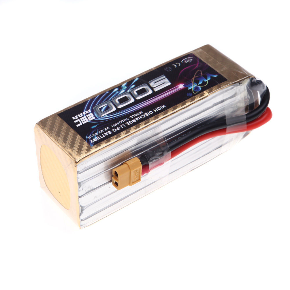 все цены на YKS 22.2V 5000mah Lipo Battery 25C MAX 40C XT60 Plug for RC Car Boat Airplane