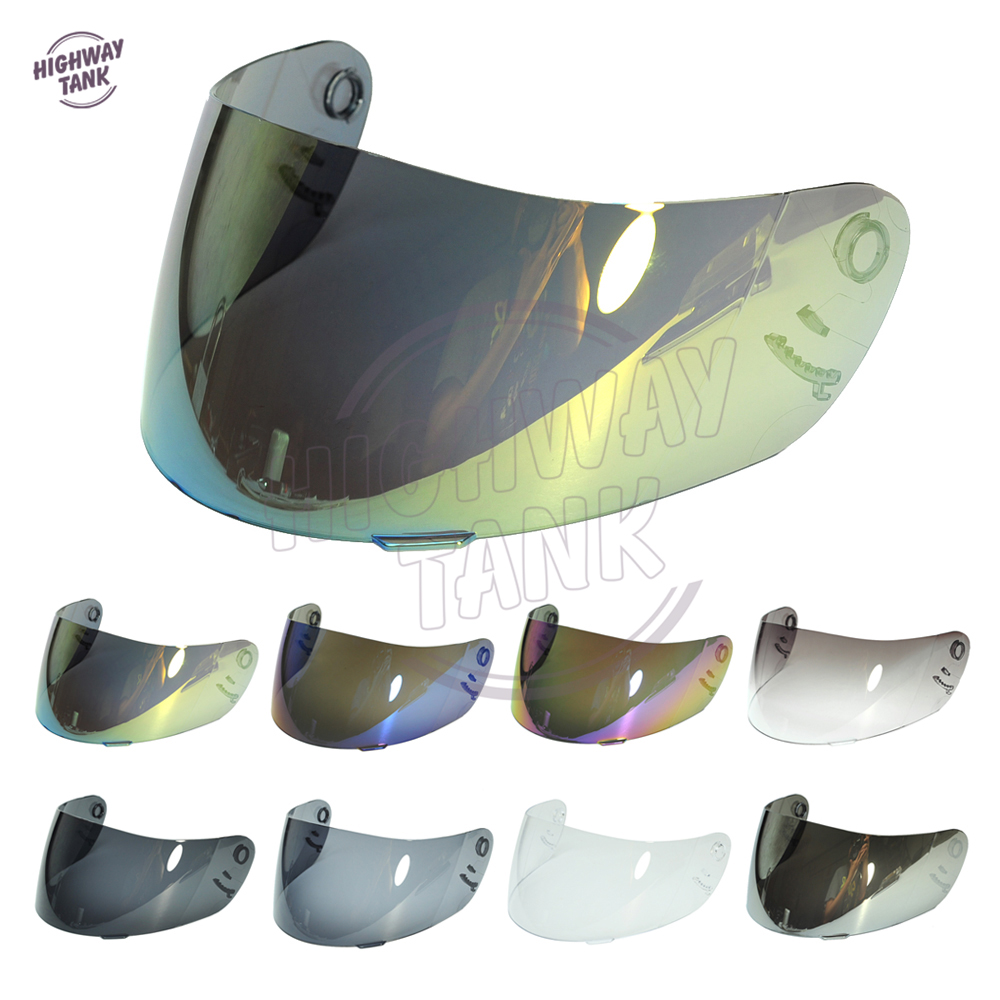 8 farben Iridium Gold Motorrad Helm Visier Objektiv Full Face Schild Fall für SHOEI CX1-V X11 Raid 2 XR1000 X -geist Multitech