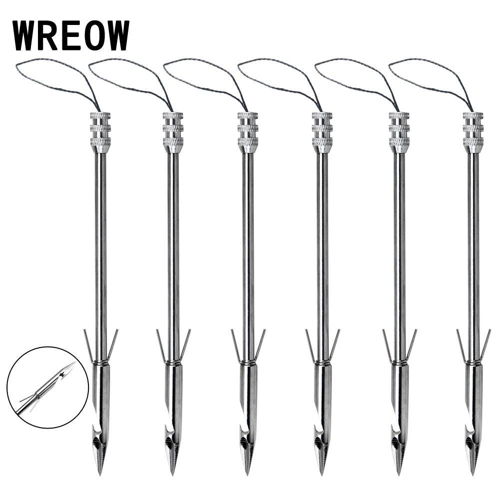 6pc Stainless Steel  Bow Fishing Broadheads Arrowhead Slingshot Catapult Dart Arrow Head Hunting Shooting Fish Accessories Tool