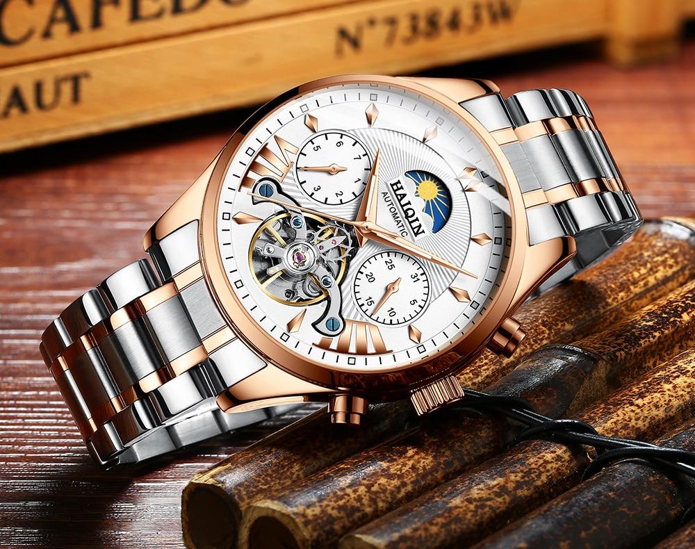 automático mecânico relógio de luxo masculino esporte