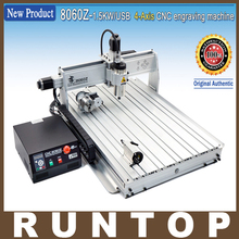 110/220VAC 4 Axis 1500W 8060Z USB MACH3 CNC Router Engraver Engraving Milling Drilling Cutting Machine