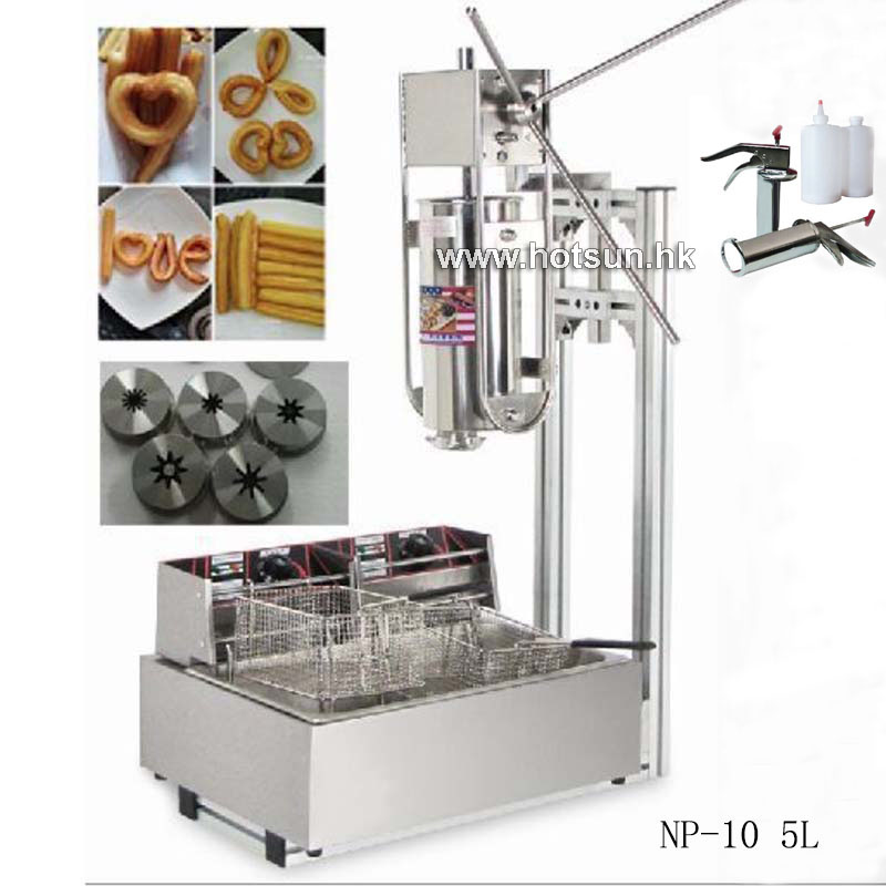 Free Shipping 5L Commercial Vertical Manual Churreras Churros Machine W 12L Fryer 700ml Filler free shipping commercial heavy duty 5l manual spanish donuts churreras churros maker machine w 12l fryer n 700ml filler