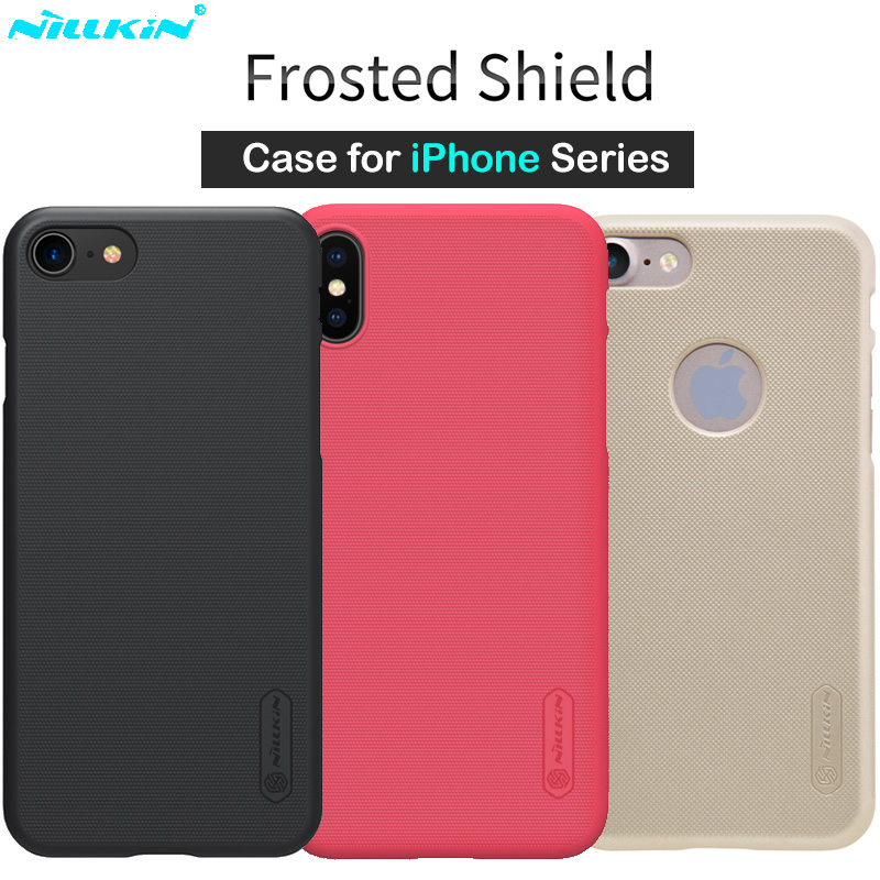 Nillkin Matte Phone Case for iPhone X Case 6 6s 7 8 Plus Cover Hard Back Frosted Cover for iPhone 7 8 Plus Case + Screen Film