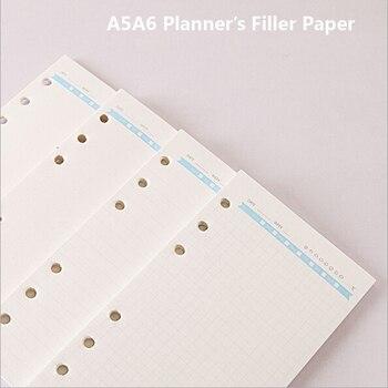 A5A6 Spirali Porządku Obrad Planowanie Organizator Wewnętrzna Strona Rechanged Wypełniacz Papieru Diario Zeszycie Spoiwa Planner Wypełniacz Papieru