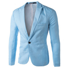 38ed3637399 Brand Sky Blue Blazer Men Costume Veste Homme 2018 New Arrival Mens Slim Fit  Blazer Jacket